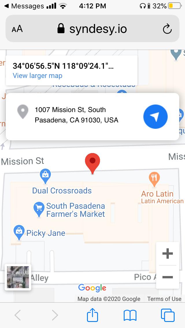 syndesy emergency location